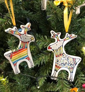 Personalised Hanging Reindeer - christmas decorations