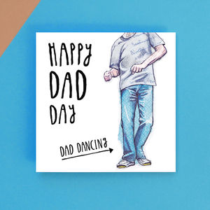 Dancing Dad Father's Day Greetings Card