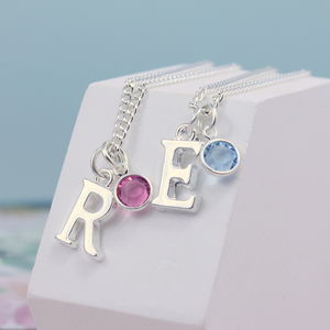 Personalised Birthstone Charm Necklace - flower girl jewellery