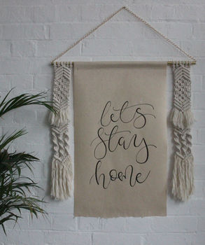 Personalised Macrame Modern Calligraphy Wall Art