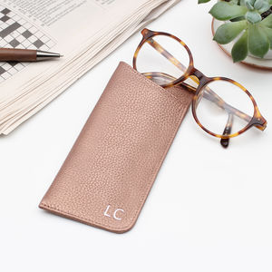 0037923b6b Luxury Leather Monogram Initials Glasses Case - glasses cases