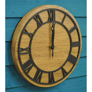 Tectona Wall Clock / Wood Effect