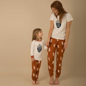 Nuts About You Adult And Child Matching Pyjamas - lingerie & nightwear