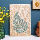 Botanical Embroidered Reclaimed Wood Art