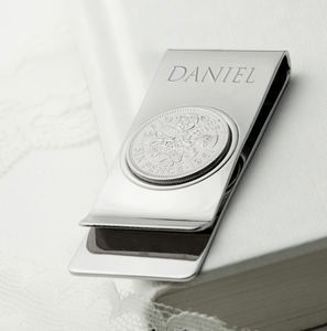 Personalised Sixpence Money Clip - new in fashion