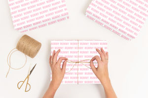 Personalised Letter Press Mother's Day Wrapping Paper - what's new