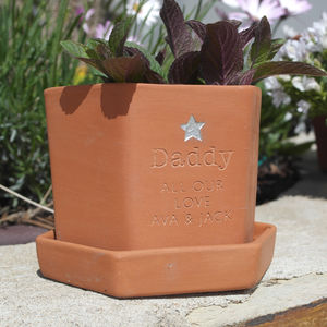 Personalised Hexagonal Herb Pot - 21st birthday gifts