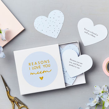 Personalised Heart Love Mum Notes