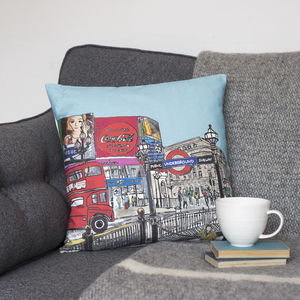 Piccadilly Circus Cushion - winter sale