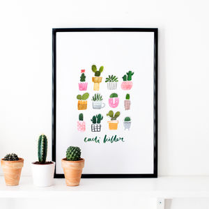 Cacti Illustrated Art Print