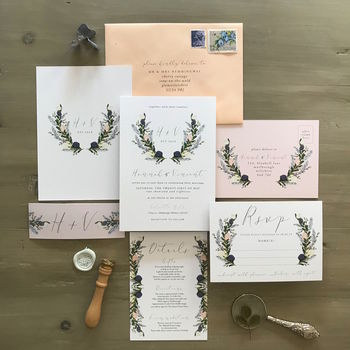Tilly Watercolour Flower Wedding Stationery