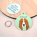 Bassett Hound Dog ID Tag Personalised
