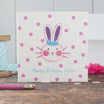 Personalised Bunny Rabbit Card