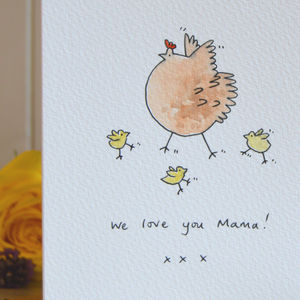 Personalised 'Hen And Chicks' Handmade Card - what's new
