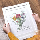 Family Birth Month Flower Print