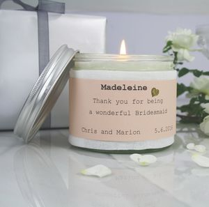 'Thank You' Bridesmaid Candle - home accessories