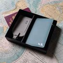 Personalised Foiled Leather Travel Gift Set