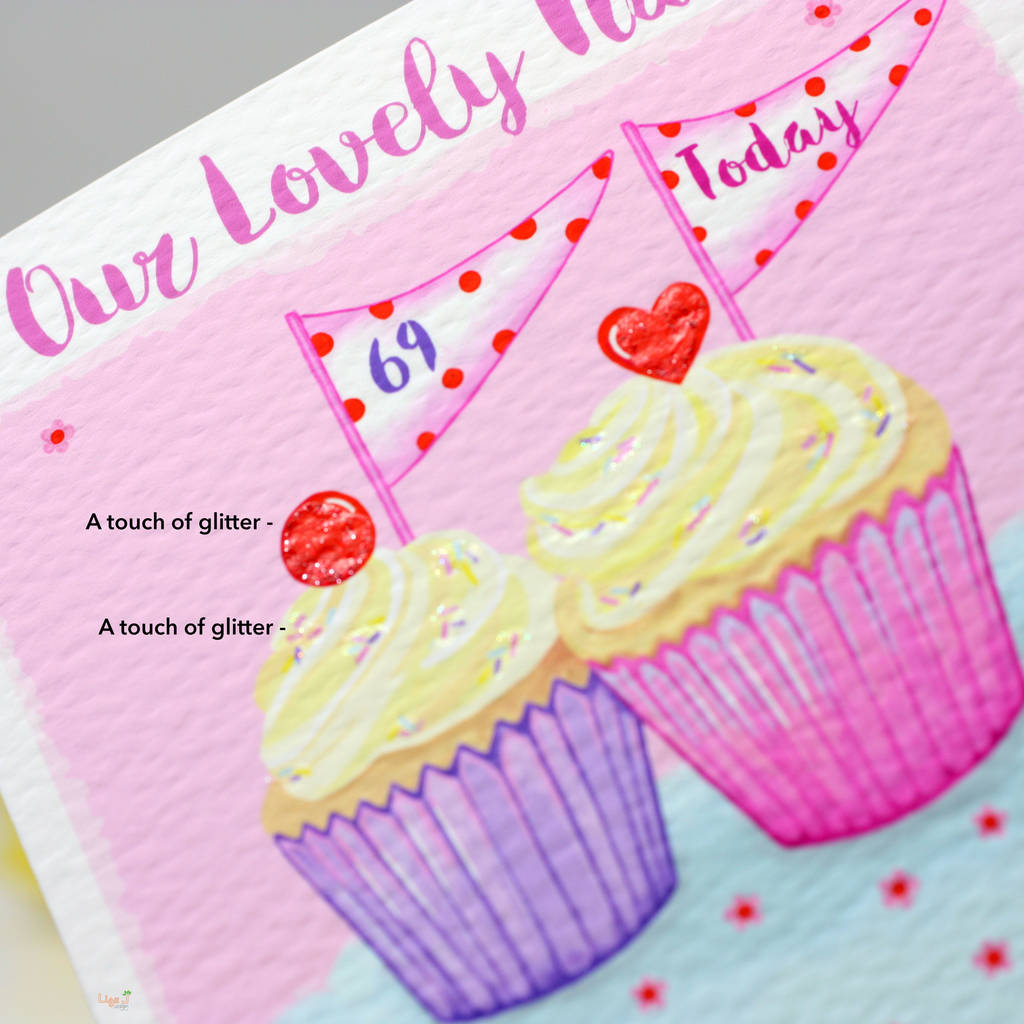 Personalised Cupcake Relation Birthday Card By Liza J Design