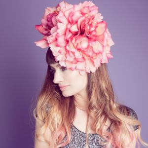 Giant Dahlia Fascinator - hats & fascinators