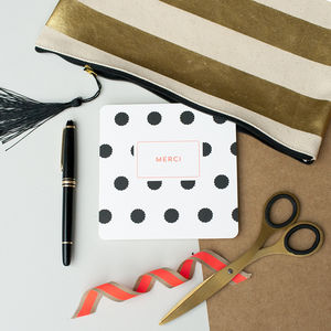 'Merci' Splat Spot Thank You Card