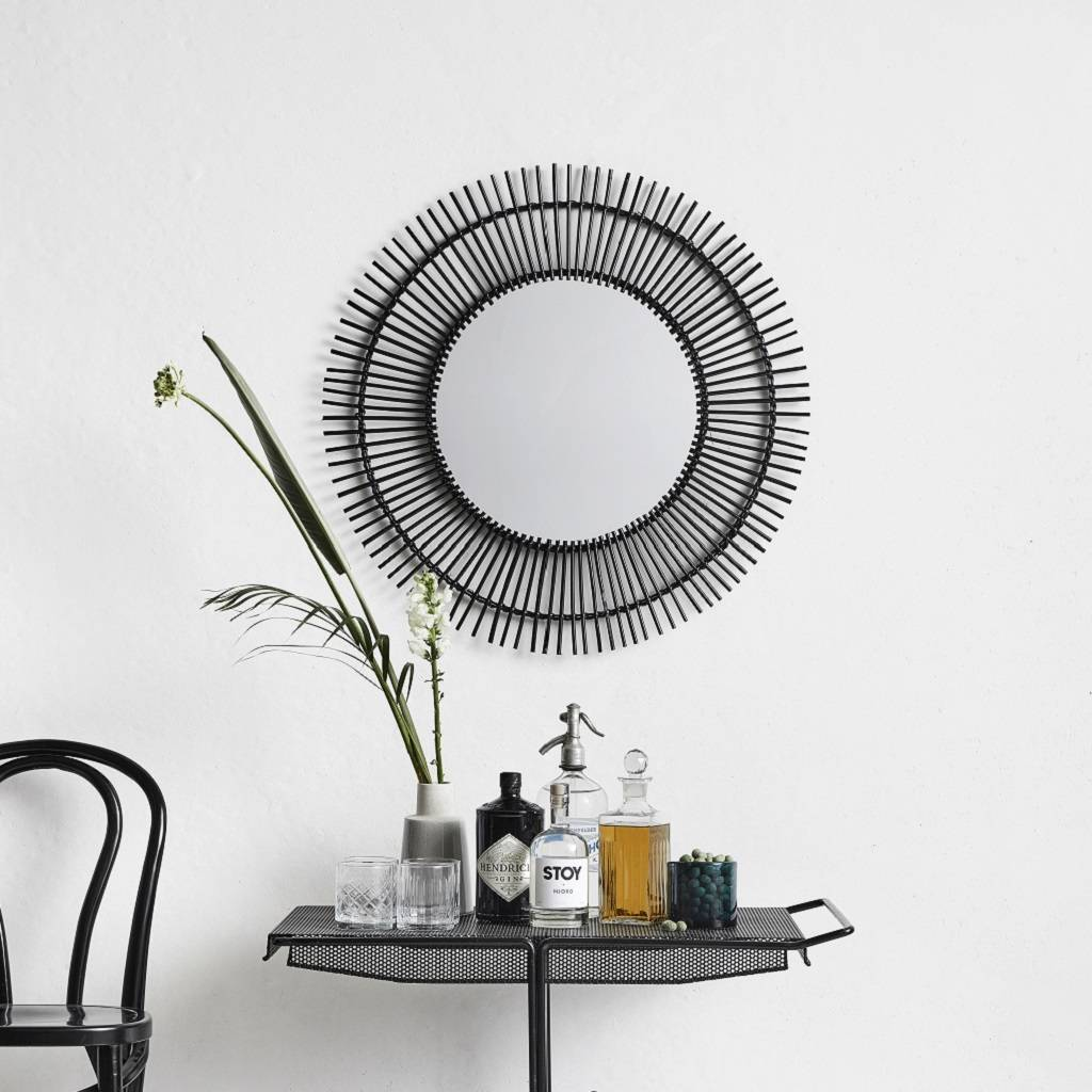 Round Black Rattan Mirror By Bell Blue Notonthehighstreet Com