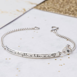 Shine Bright Like A Diamond Bracelet - christening jewellery