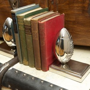 Pair Of Rugby Ball Bookends - home accessories