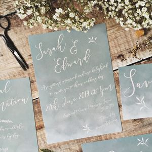 Blue Blush Wedding Stationery - invitations