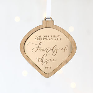 'First Christmas As A Family' Bauble
