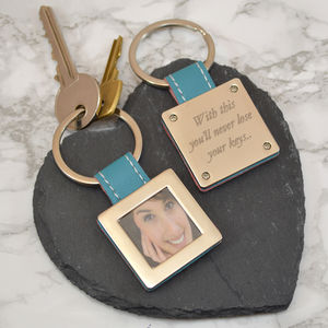 Personalised Square Shaped Photo Key Ring