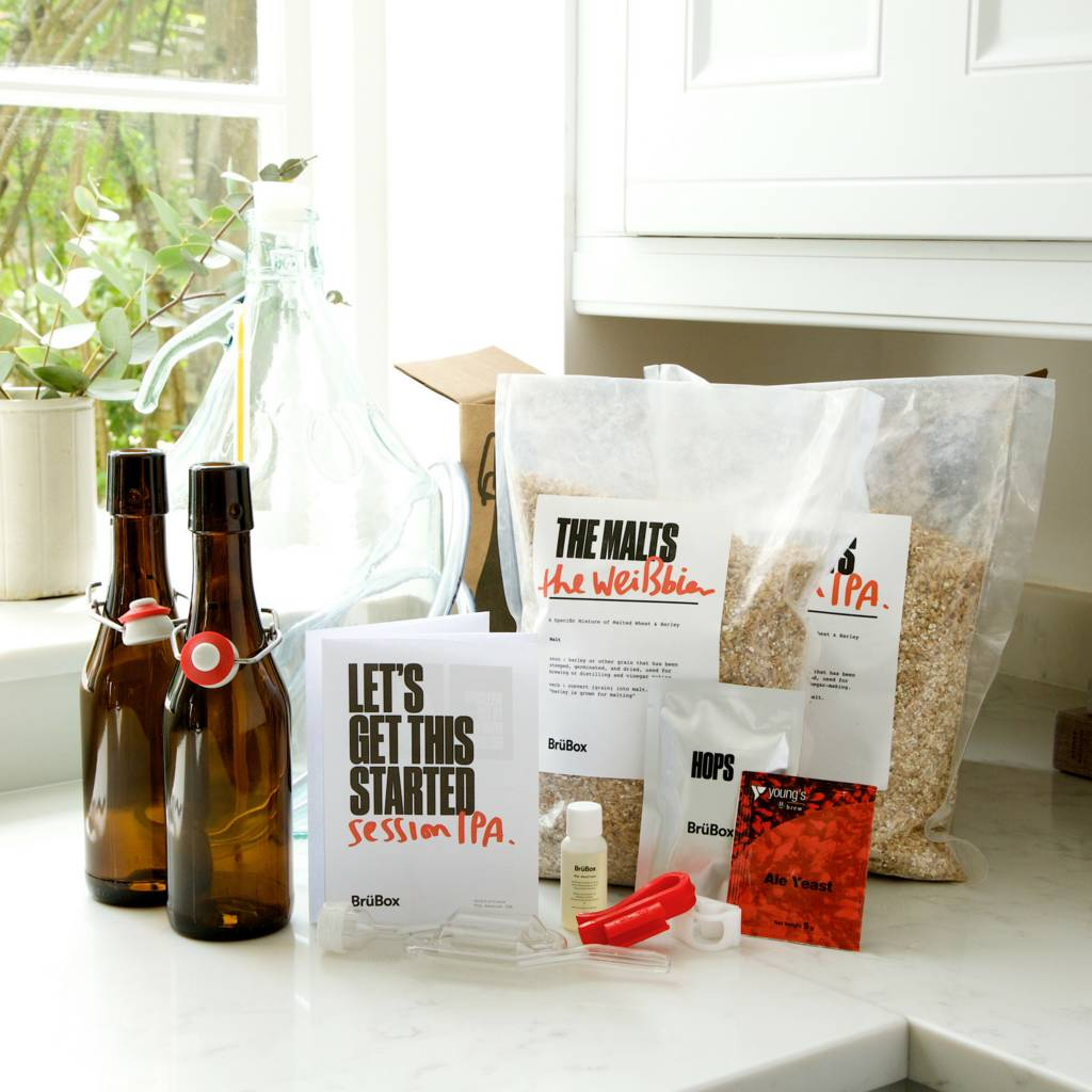Craft Beer Brewing Bundle With Bottles + Extra Refill