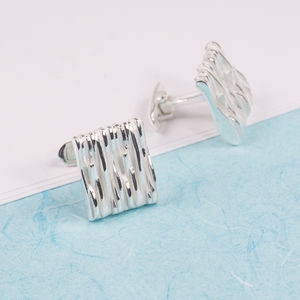 Silver Strand Cufflinks - men's accessories