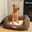 Heritage Tweed And Cream Sherpa Boxy Dog Bed
