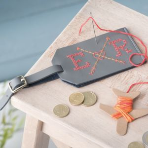 Stitch Your Own Luggage Tag - gifts for her