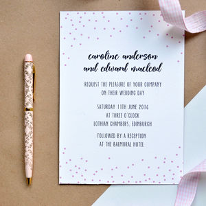 Confetti Wedding Invitation - invitations