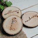 Personalised Natural Wood Name Place Setting