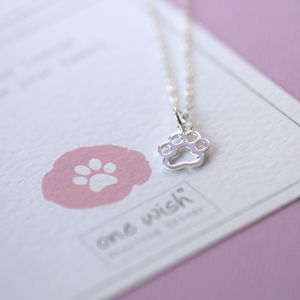 Animal Paw Print Sterling Silver Necklace
