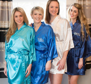 Satin Robe Perfect For Bridesmaids