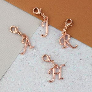 Rose Gold Letter Clipon Charms