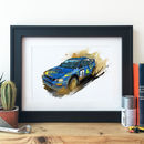 Subaru Impreza World Rally Car Illustration