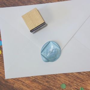 Square Monogram Personalised Wax Seal Stamp - wax seals