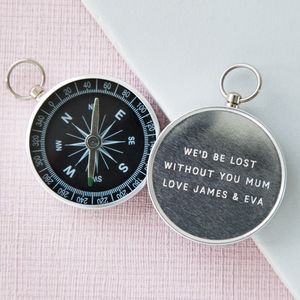 Personalised Engraved Mother's Day Compass - camping