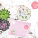 'You Can Never Have Enough Plants' Cross Stitch Kit