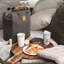Grey Canvas Picnic Bag