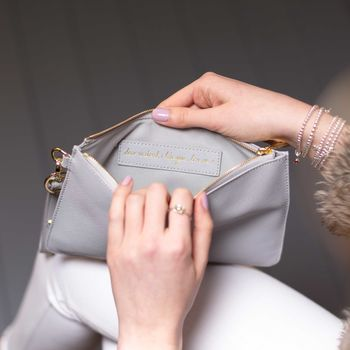 Personalised 'Le Weekend' Secret Saying Clutch Bag