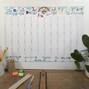 Large Rainbow 2020/21 Academic Wall Planner