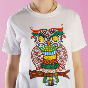 Wise Owl Colouring In T Shirt