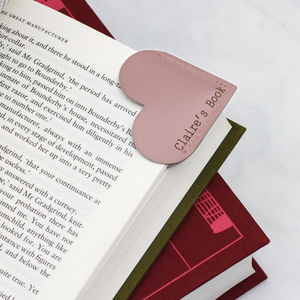Personalised Leather Page Corner Bookmark - books