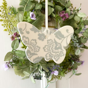 Porcelain Butterfly Decoration