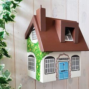 Personalised Cottage Bird Box - garden